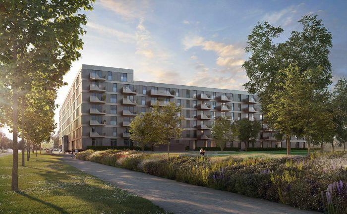 So soll das Wohnprojekt der Bayerischen Ärzteversorgung nach seiner Fertigstellung aussehen. |© Becken Development