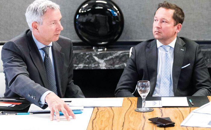 Stefan Freytag (l.) und Oliver Leipholz von der Deutschen Oppenheim Family Office