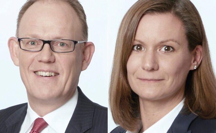 Warburg-Invest-Vorstandschef Carsten Schmeding (l.) und die neue Vorständin Caroline Specht.