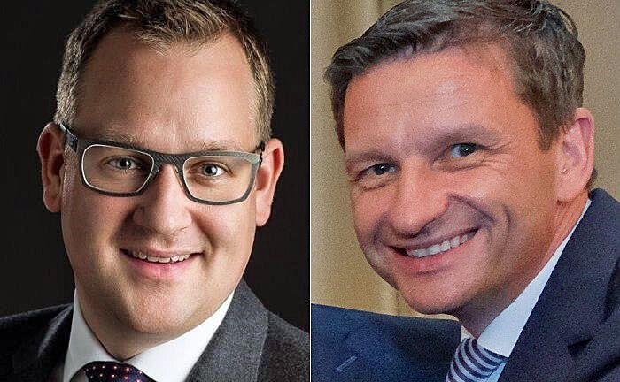 Sebastian Schöpper (l.), seit Januar 2017 Bereichsleiter Private Banking in Hannover, und der für das Geschäft mit Vermögenden verantwortliche Vorstand Matthias Battefeld, der dem Gremium seit 2015 angehört.