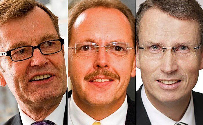 Ralf Hölscher (r.) sitzt ab sofort neben den beiden Senior-Partnern Ernst Heemann (l.) und Ralf de Winder (M.) in der Geschäftsführung.  |© Heemann VV