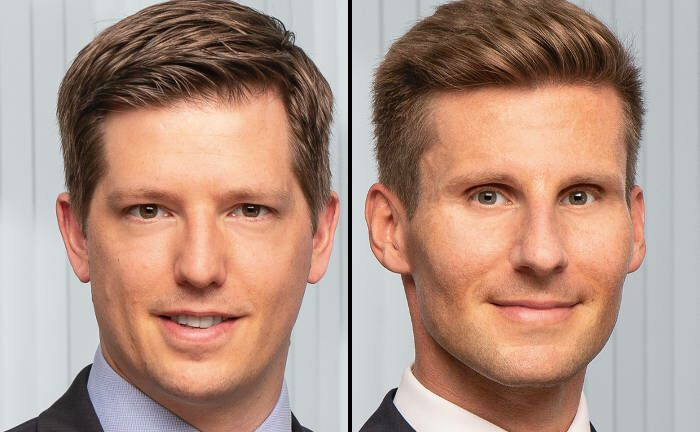 Jan Rabe (links) und Daniel Sailer leiten künftig das Nachhaltigkeitsbüro bei Metzler Asset Management.|© Metzler AM