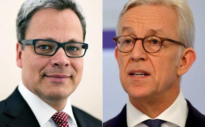 Karl von Rohr (rechts) verantwortet auf Vorstandsebene künftig auch das Privatkundengeschäft, Manfred Knof fungiert als operativer Leiter des Privatkundengeschäfts in Deutschland  |© Deutsche Bank
