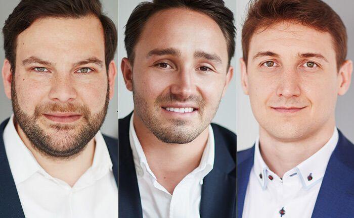 Bernhard Strauch, Felix Heller und Alexander Grad (von links) sind im Verbund aus dem Wealth Management der HVB zur Spudy-Gruppe gewechselt.|© Spudy