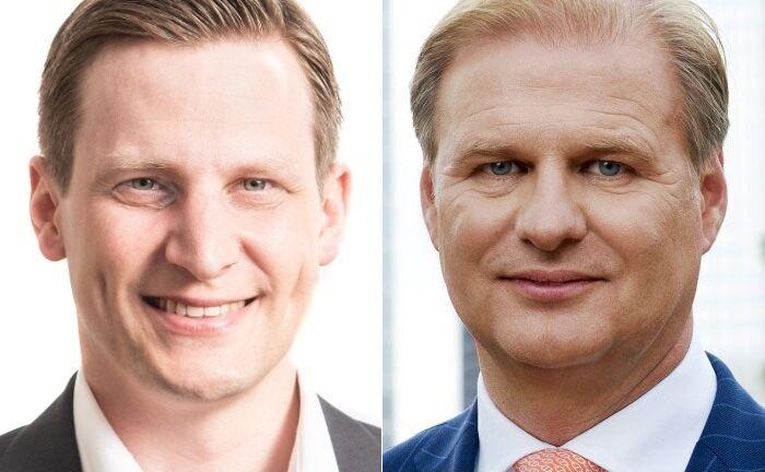 Patrick Scheurle, Vorstandschef von Blue Orchard, und Achim Küssner, Geschäftsführer von Schroder Investment Management. |© Blue Orchard/Schroders