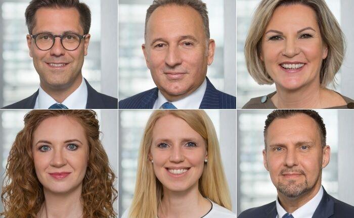 Rüdiger Polzin (von links oben im Uhrzeigersinn), Teamchef Dieter Knoll, Claudia Daut, Corinna Graßold, Cornelia Dolles und Christoph Wörlein.|© BW-Bank