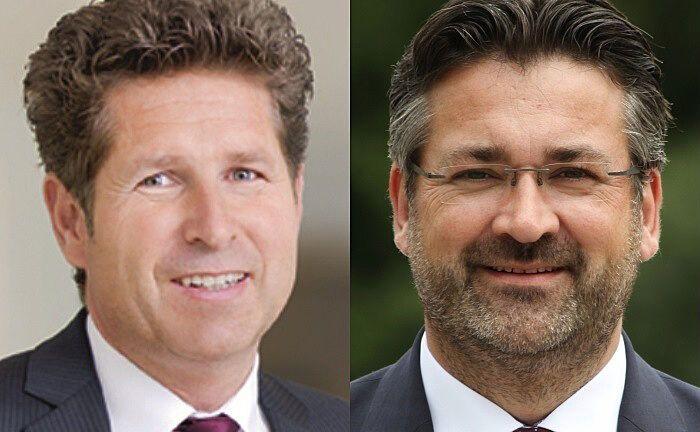 Gabriel von Canal (links), Generalbevollmächtigter und Leiter Vertrieb der Augsburger Aktienbank, und Markus Köppl, Gründer von Anleger24.de. |© AAB, Köppl