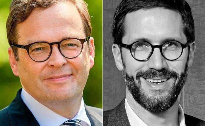 Marcus Vitt (l.), Vorstandssprecher von Donner & Reuschel, und Chris Bartz, Mitgründer von Elinvar.