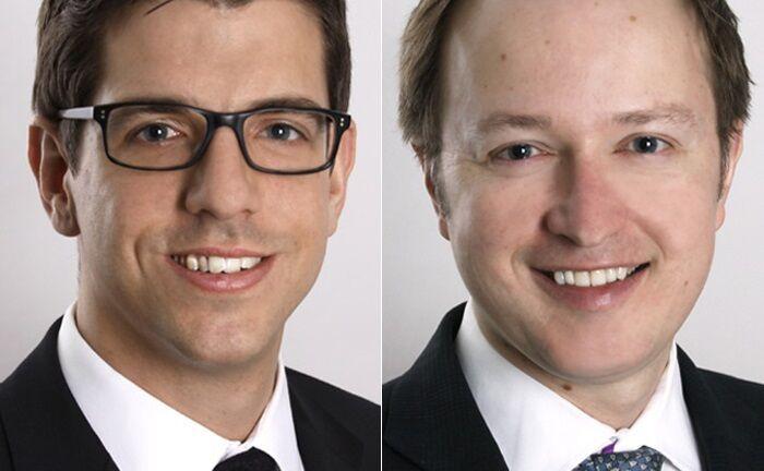 Steve Wreford (r.) und John King arbeiten im Portfoliomangement von Lazard Asset Management.|© Lazard Asset Management