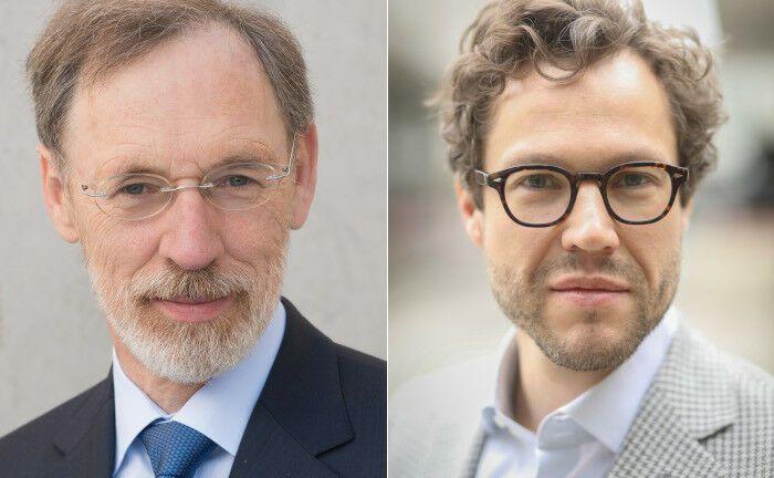 Heinrich Degenhart (li.) und Nicolas Vogelpoth leiten das neue Fachressort Asset Management beim Verband Deutscher Treasurer. |© VDT