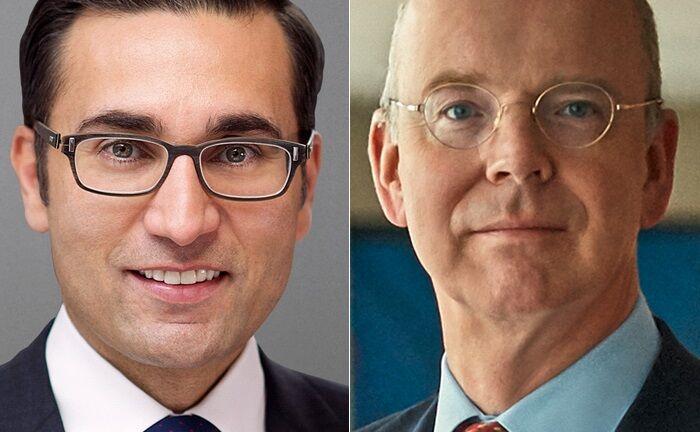 Wechsel auf der UBS-Position des Co-Präsidenten Global Wealth Management: Martin Blessing (r.) geht, Iqbal Khan kommt.|© UBS/Credit Suisse