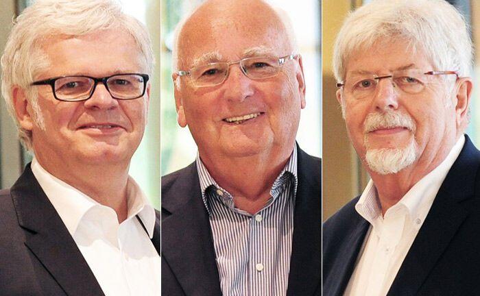 Der neue Aufsichtsrat des Osnabrücker Multi Family Office Attentium (von links): Hans-Joachim Böcking, Volker Bernstorff und Ernst Schwanhold |© Sandra Stege