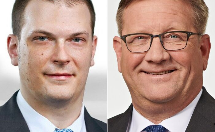 Christopher Zilch (l.) und Oliver Heist arbeiten bei EY in der Wealth-Management-Beratung.|© EY