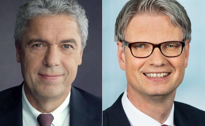 Jörg Ludewig (l.) und sein designierter Nachfolger Frank Krause. |© Haspa