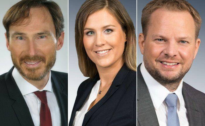 Die neue Führungsriege: Jens Göttler, Berit Hamann und Dennis Jeske (v.l.n.r.)