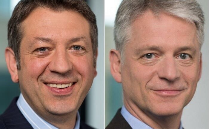 Olaf Tecklenburg (l.) und Hans-Ulrich Templin, der 2020 die Rolle des Sprechers der Geschäftsführung übernehmen soll. |© Helaba Invest