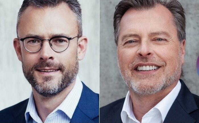 Quirion-Gründer Karl Matthäus Schmidt (l.) und der neue Geschäftsführer Martin Daut.