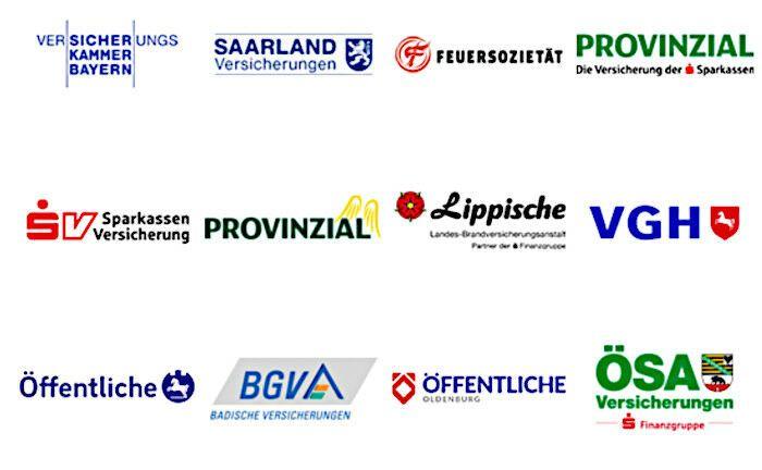 Versicherungskammer Bayern und SV Sparkassenversicherung: Die öffentlichen Versicherer - hier eine Auswahl der Verbandsmitglieder - wollen nachhaltig investieren. |© Schreenshot der Webseite des Verbandes öffentlicher Versicherer.