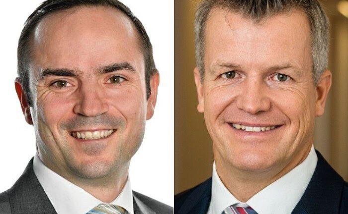 Der eine kommt, der andere geht: Peter Weidmann (l.) und Jürgen Pauler. |© V-Bank