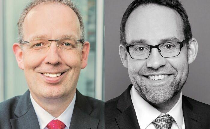 Jörg Plesse (l.) ist Unternehmensberater, Financial und Estate Planner. Mario Kuppe ist Steuerberater bei der Kanzlei Müller Mahlmann.