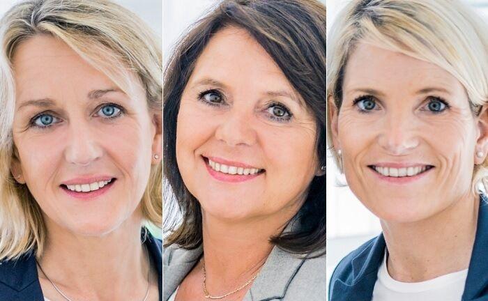 Hilke Krausewitz (v.l.), Mechthild Drees und Imke Meyer
