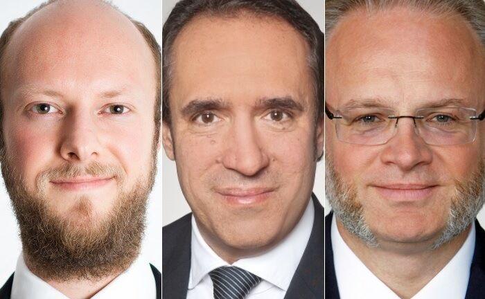 Daniel Schüttpelz (v.l.), Sven Oberle und Jörgchristian Klette arbeiten im Bereich Private Client Services Tax bei der Beratungsgesellschaft EY.|© EY