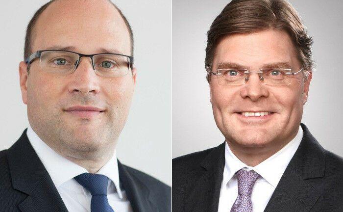 Experten im institutionellen Vertrieb: Stefan Welk (l.) und Patrick Lüthje arbeiten für Santander Asset Management.