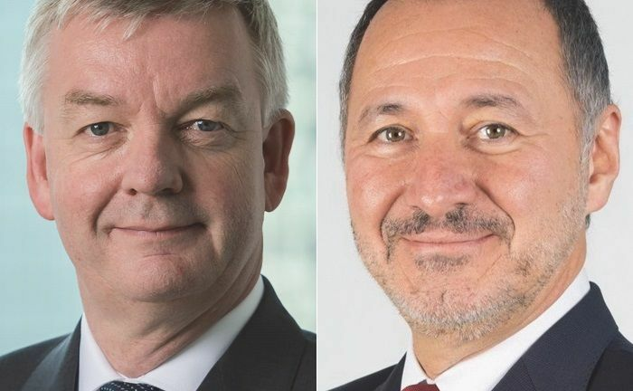 Andreas Brandt (l.) vom Vermögensverwalter Lunis und Kai Hartmann von der Youmex-Gruppe. |© Lunis VM