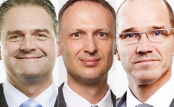 Andreas Kuschmann (l.), Marcus Burkert (M.) und Carsten Hermann. |© Feri-Gruppe