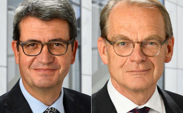 Expertise in der institutionellen Kapitalanlage: Udo von Werne (l.) und Stephen Oxley arbeiten für die weltweit operierende Fondsgesellschaft PGIM.