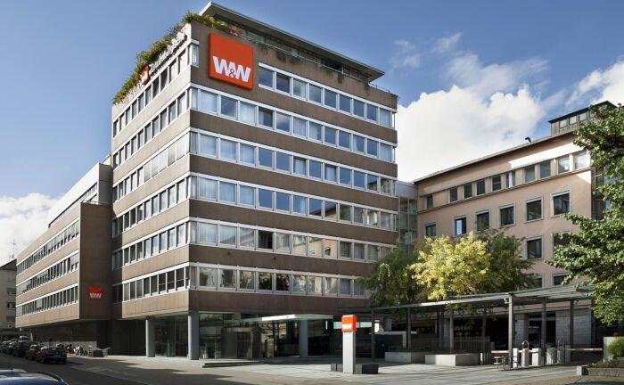 Sitz der Württembergischen Versicherung in Stuttgart: Die Versicherung gehört zum börsennotierten Finanzkonzern Wüstenrot & Württembergische und sucht einen Leiter Kapitalanlagen-Reporting und -Regulatorik.