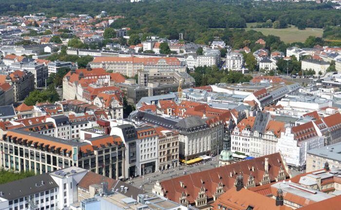 Leipzig von oben: Soka-Bau lässt in der prosperierenden Messestadt Mietwohnungen bauen.