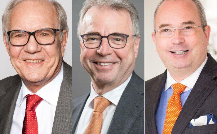 Brun-Hagen Hennerkes, Rainer Kirchdörfer, Ulrich Stoll (v.l.n.r.): Der Vorstand der Stiftung Familienunternehmen|© Stiftung Familienunternehmen