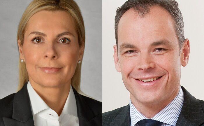 Frank Schriever verantwortet ab sofort das Geschäft mit Vermögenskunden der Deutschen Bank in Deutschland. Stefanie Hoffmann-Rühl übernimmt die Leitung der Wealth-Management-Region Mitte & West.