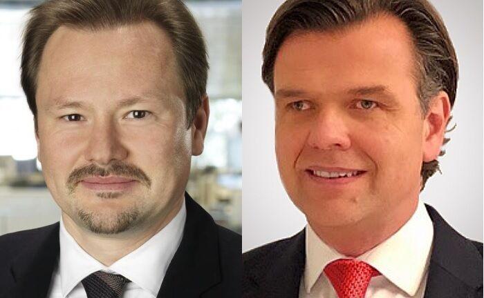 Thorsten Weinelt (l.) und sein Nachfolger Carsten Kahl.