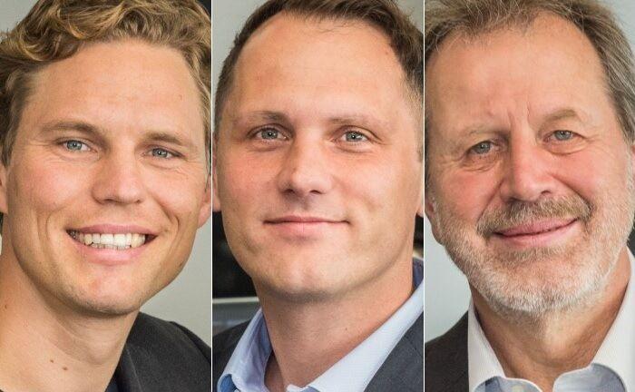 Die Gründer von Scalable Capital Erik Podzuweit (v.l.n.r.),  Florian Prucker und Stefan Mittnik. |© Scalable Capital