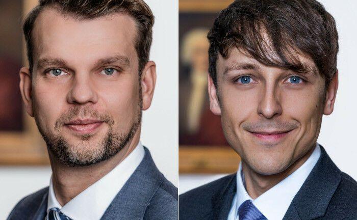 Treiben die neue Strategie von Berenberg voran: Die Neuzugänge Arne Rahner (l.) und Thiemo Hatton. |© Berenberg Bank