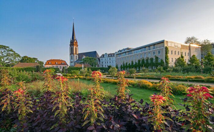 Der Prinz-Georg-Garten ist eine Sehenswürdigkeit in Darmstadt, dem Standort der Evangelischen Zusatzversorgungskasse EZVK: Die Anlagespezialistin Sabine Mahnert ist neue Leiterin Kapitalanlagen der EZVK.