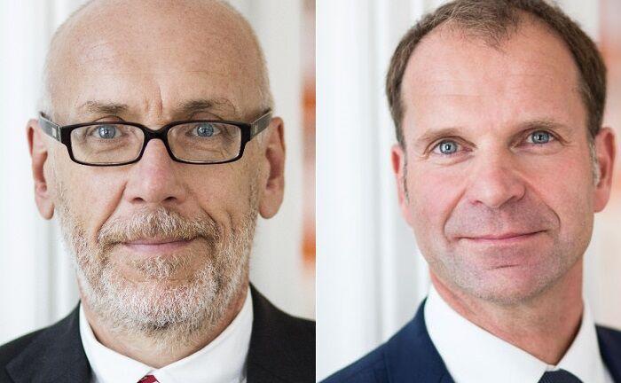 Oliver Schultze (l.) ist Steuerberater seiner selbs gegründeten Kanzlei Steuern & Vermögen. Ralph Kempcke arbeitet für das Family Office Agusta