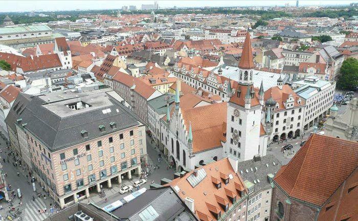 Die Münchner Innenstadt: Der hier beihamtete Vermögensverwalter Caspara Capital befindet sich derzeit in der Abwicklung.