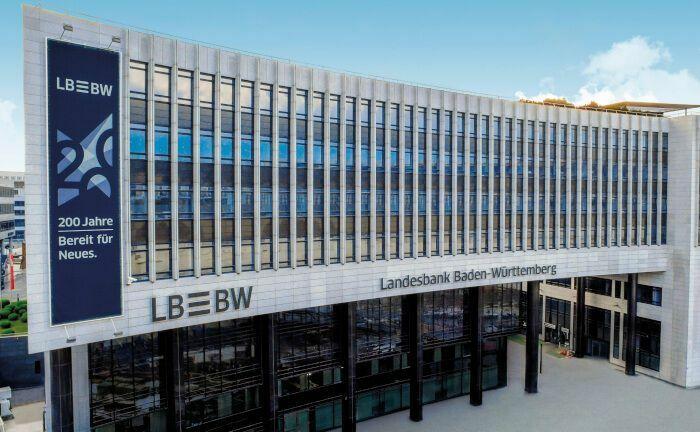 Hauptsitz der Landesbank Baden-Württemberg in Stuttgart: Die Landesbank hat im vergangenen Jahr 135 Transaktionen am Markt für Schuldscheindarlehen gezählt.|© LBBW
