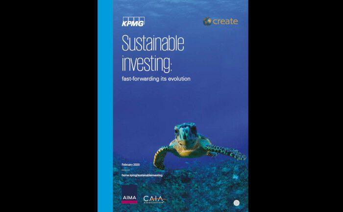Screenshot vom Deckblatt der Umfrage: Investoren erwarten von Hedgefonds zunehmend, dass diese bei ihren Anlagen soziale und Umwelt-Themen berücksichtigen und auf eine nachhaltige Unternehmensführung achten. |© KPMG