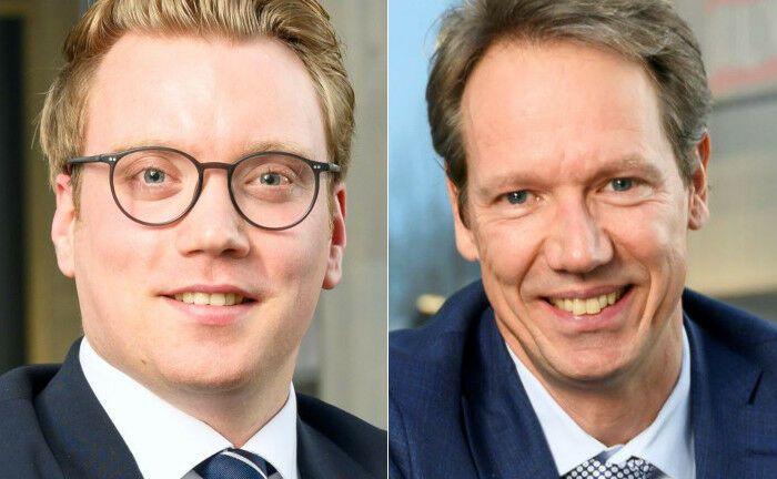 Sebastian Wasser (li.) und Marcus Kraft: Die Geschäftsführer der Ehret + Klein Capital Markets leiten das neue Unternehmen seit Anfang Februar 2020.