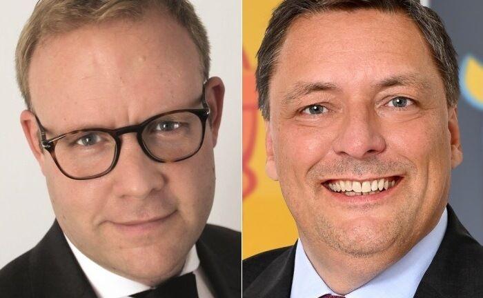 Portfoliomanager Christian Hammes (l.) und Ficon-Geschäftsführer Dyrk Vieten: Unter der Bezeichnung Green Dividends verpackt die Vermögensverwaltung die Strategie auch in einem neuen Fonds.|© ETA Family Office