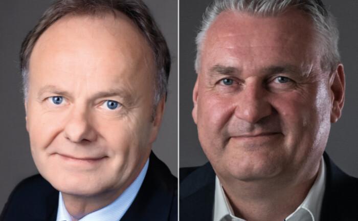 Franz-Josef Rosemeyer (links) geht in Ruhestand, seinen Posten bei A.S.I. übernimmt Klaus Ostholt.