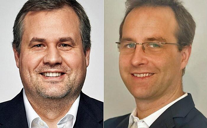 """Peter Neckel (l.) und Ludwig Ressner: """"Für Kundenbetreuter am Sitz Zürich werden die beschriebenen Empfehlungen bereits regelmäßig ausgespielt."""""""