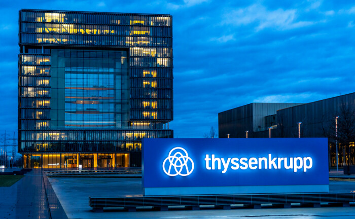 Die Unternehmenszentrale von Thyssen-Krupp in Essen: Der Stahlkocher verkauft seine Aufzuggeschäft an Finanzinvestoren.