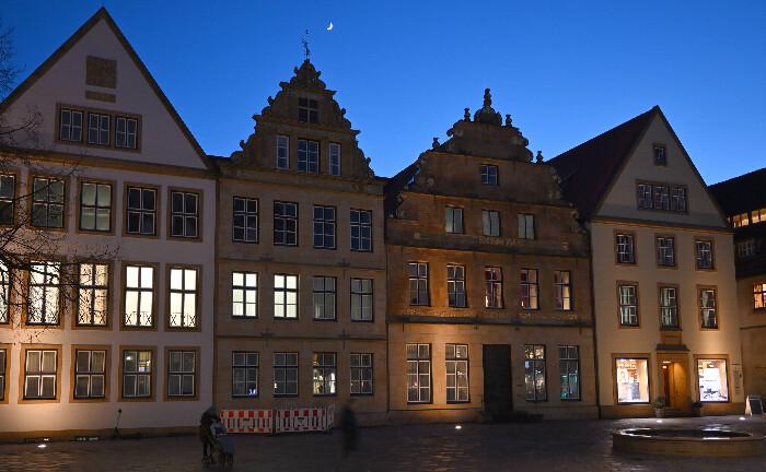 Stammsitz des Bankhaus Lampe in Bielefeld: Die Oetker-Gruppe hat einen Käufer für das Traditionsinstitut gefunden. |© imago images/Markus Rinke