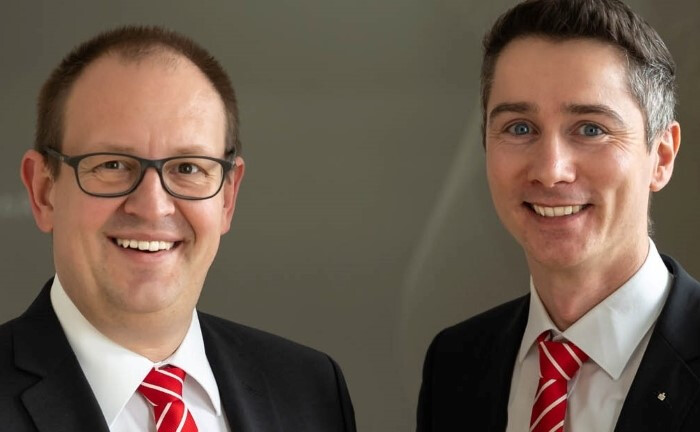 Die zwei neuen stellvertretenden Vorstandsmitglieder Markus Bayer (l.) und Jürgen Käsmayr. |© KSK Augsburg