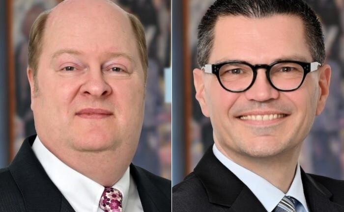 Olaf Bender (l.) und Jürgen Horn: Neben der Betreuung ihrer Kunden in der Vermögensverwaltung nehmen beide auch interne Aufgaben wahr und sind Teil des Portfoliomanagement-Teams.|© Ficon VM